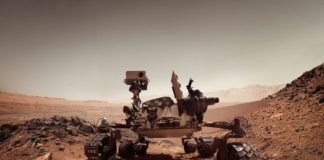 Mars Curiosity Rover Mud
